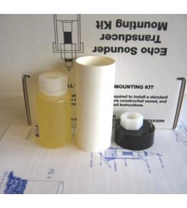 Kit di montaggio sensore ecoscandaglio interno allo scafo
