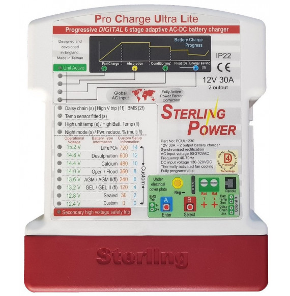 Caricabatterie ProCharge Ultra Lite 12V 30A